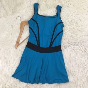 Turquoise Nike tennis dri fit dress